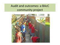 Audit and outcomes: a BAcC community project - Mark Bovey