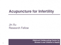 Acupuncture for infertility - Jin Xu